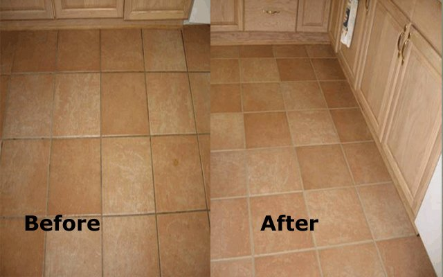 Before and After Tile and Grout Cleaning Geelong