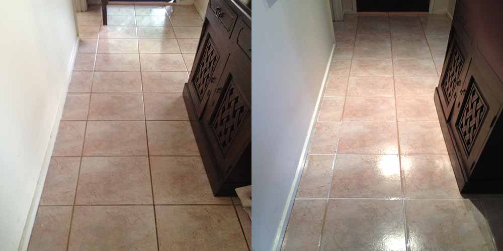 Tile and Grout Cleaning Helena Valley (Before - After)