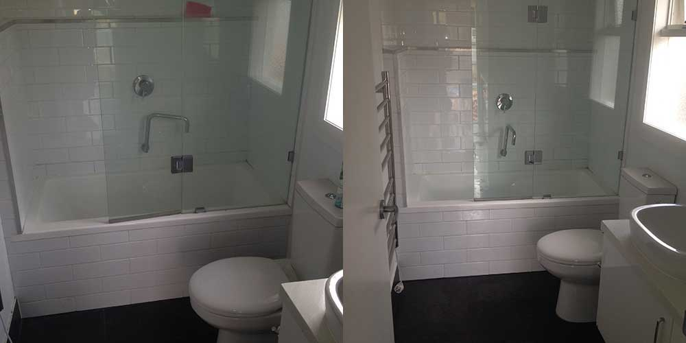 Toilet Tile and Grout Cleaning (After-Before)