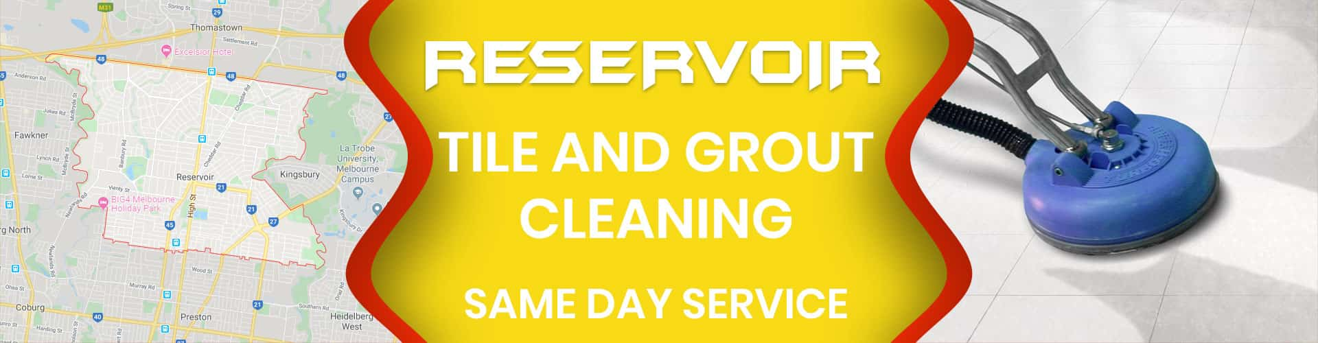 tile and grout cleaning reservoir
