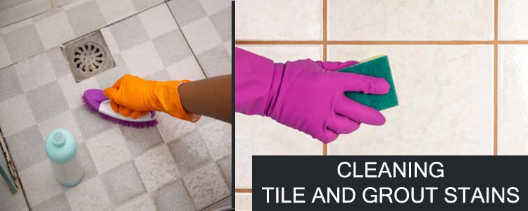CLEANING TILE AND GROUT STAINS